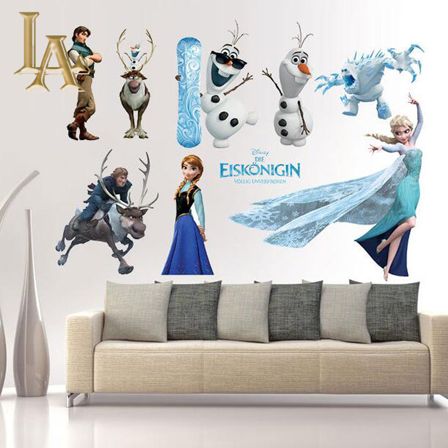 Buy cartoon movie frozen wall sticker quotes home decor for kids rooms diy - Home decor kids ...