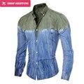 Homens Camisa Manga Longa Engraçado inteligente Vestido Camisas Listras Mens marca de moda casual slim fit roupas boss algodão de uma peça 5087