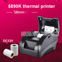 5890 K Draagbare USB 58mm POS Ontvangst 58mm Thermische Printer US/EU Plug Smart Auto Thermische Printer voor Android