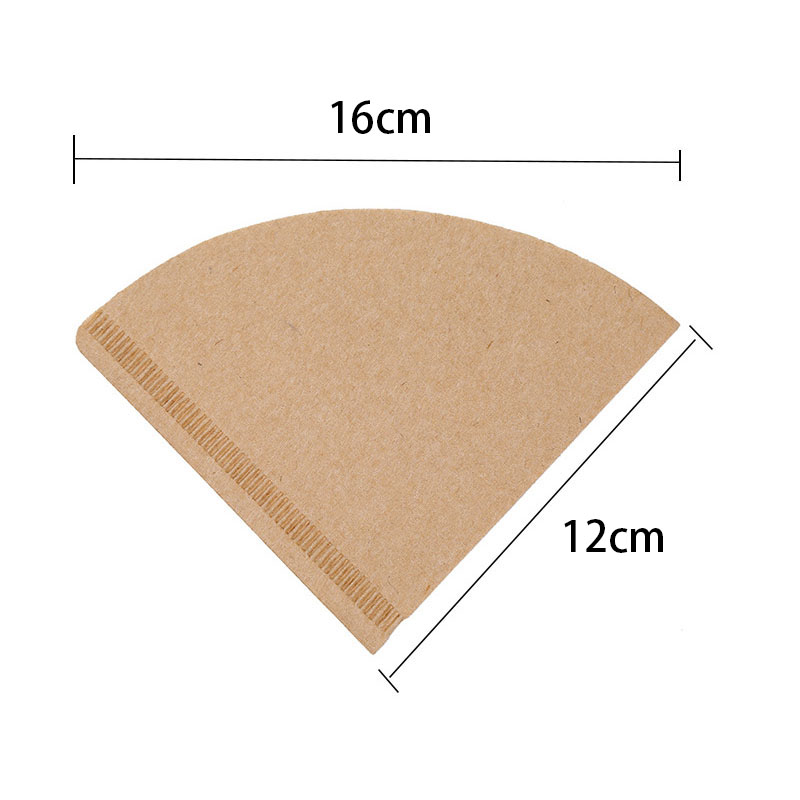 V60 Filter Cup Special 102 Coffee Filter Paper Coffee Filter Papers Unbleached Original Wooden Drip Paper Cone Shape