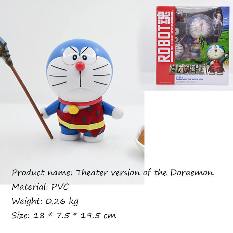 18CM Theater version Doraemon Face Eye Changeable PVC Action Figure Toy free shipping