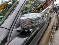 For Mercedes Benz CLA C117 W117 2014 2015 Carbon fiber side Door Rearview mirror cover trim
