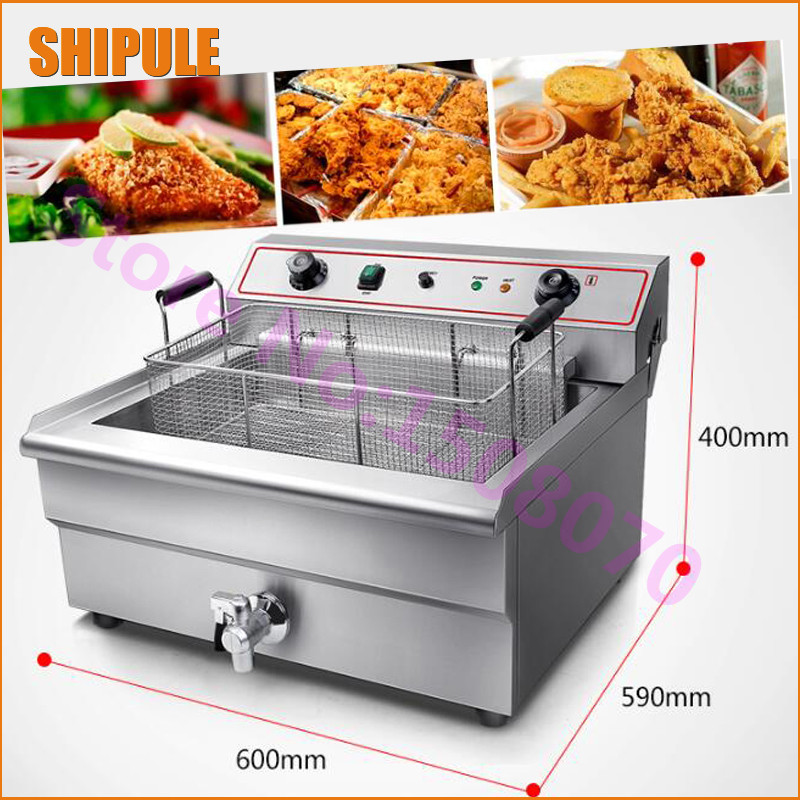 SHIPULE wholesale products 30 L Industrial electric fryer machine for fried chicken machine fryers with 1 baskets fry machine