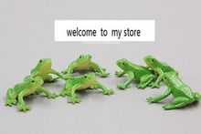 super mini pvc figure frog animals models toys children birthday gift toys holiday gift ornaments 10pcs/set