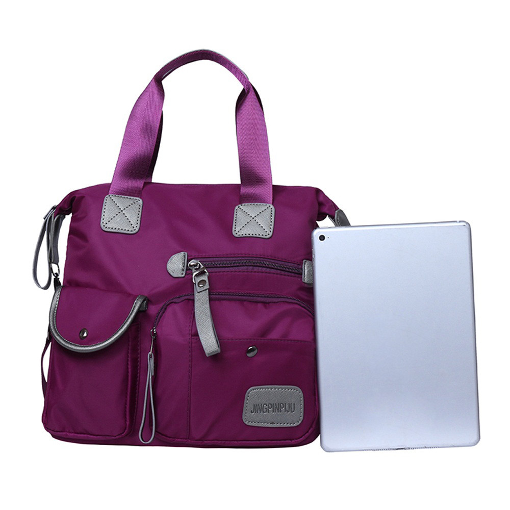 Blue purple Nylon black Solido Di Borse Zer Donne Del Impermeabile dark Donna Per Red Le Sacchetto Fashion Colore Lampo Crossbody Chiusura Spalla Borsa qxA1w8B