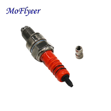 MoFlyeer Motorcycle Spark Plug A7TC A7TJC 3 Electrode GY6 50 to 125cc Moped Scooter ATV Quads Modification Part
