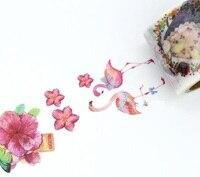 1Roll 40mmx7m High Quality Girl Wreath Flower Pattern Japanese Washi Decorative Adhesive Tape DIY Masking Paper