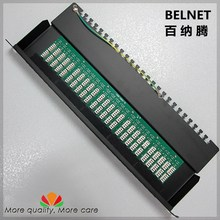 50-ports telephone voice patch panel telecommunication engineering grade 19-inch 1U PCB type RJ11 patch panel distribution frame
