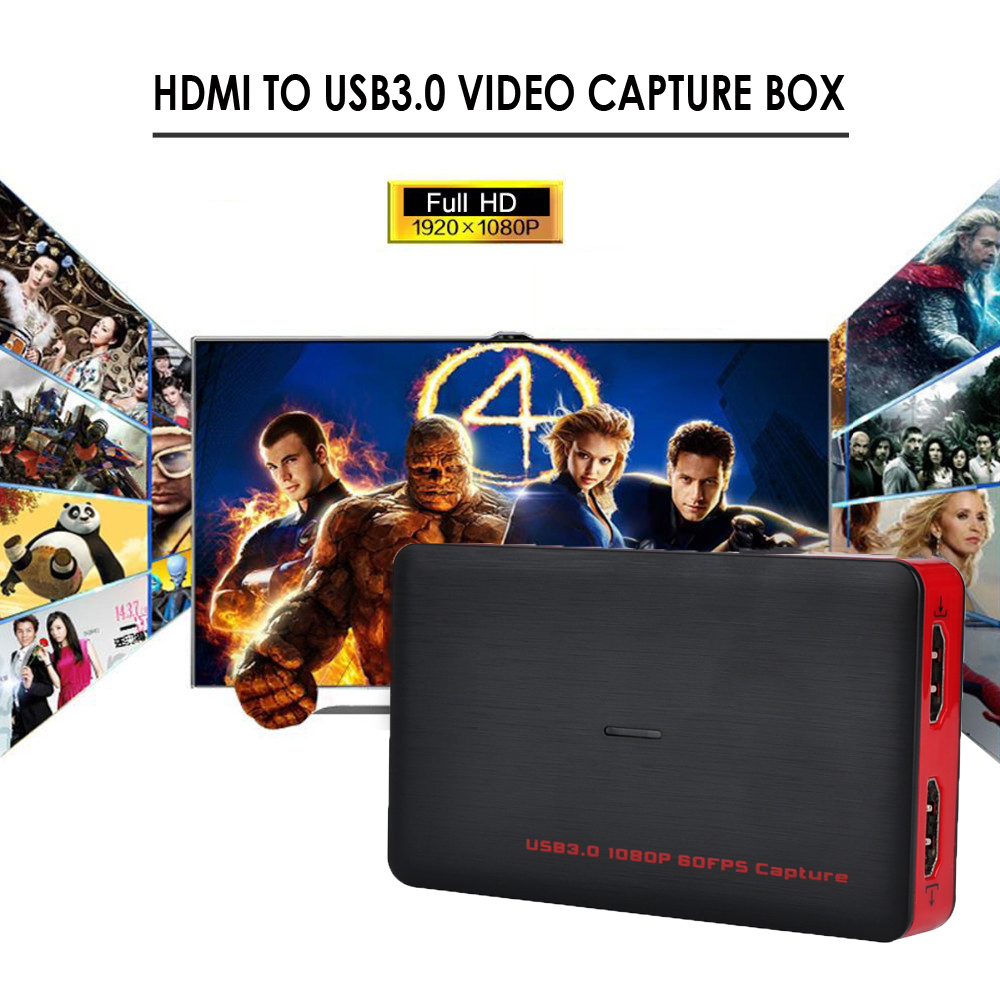 USB 3.0 Game Video Capture hd 1080P USB3.0 Superior AV Capture Box For PS3 PS4 XBox One Playstation TV HD Camera PC Endoscope skullies