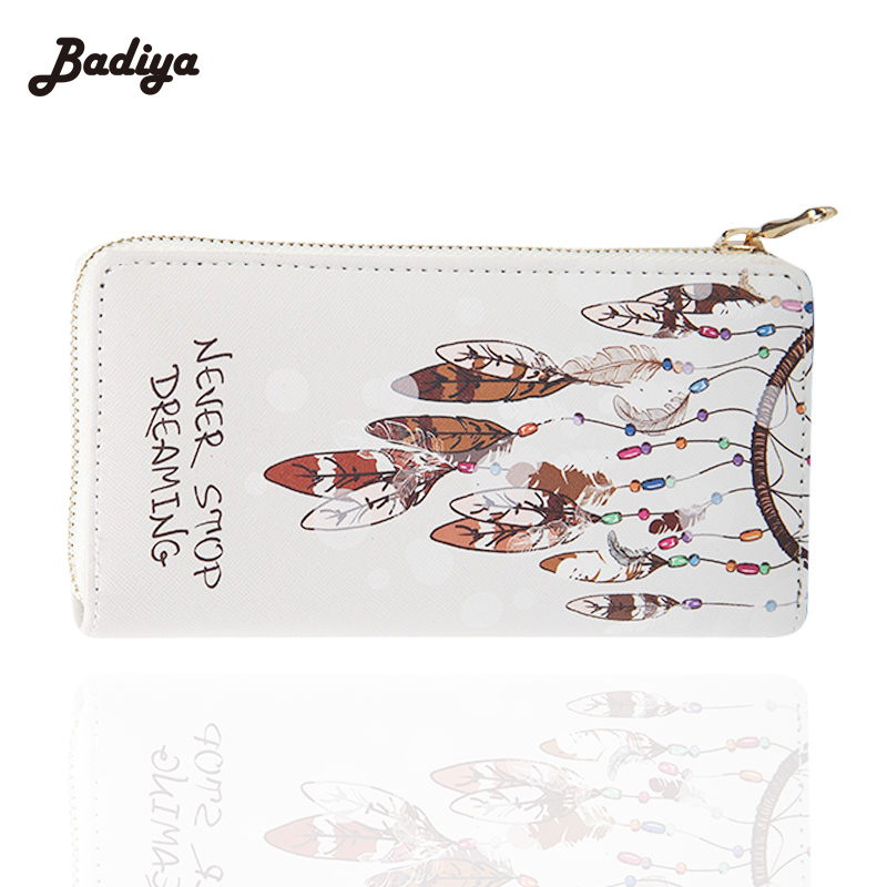 Accesorios Printing Women Long Wallet With Phone Pocket High Quality PU Leather Graffiti Purse Ladies Card Holder Purse moana maui high quality pu short wallet purse with button