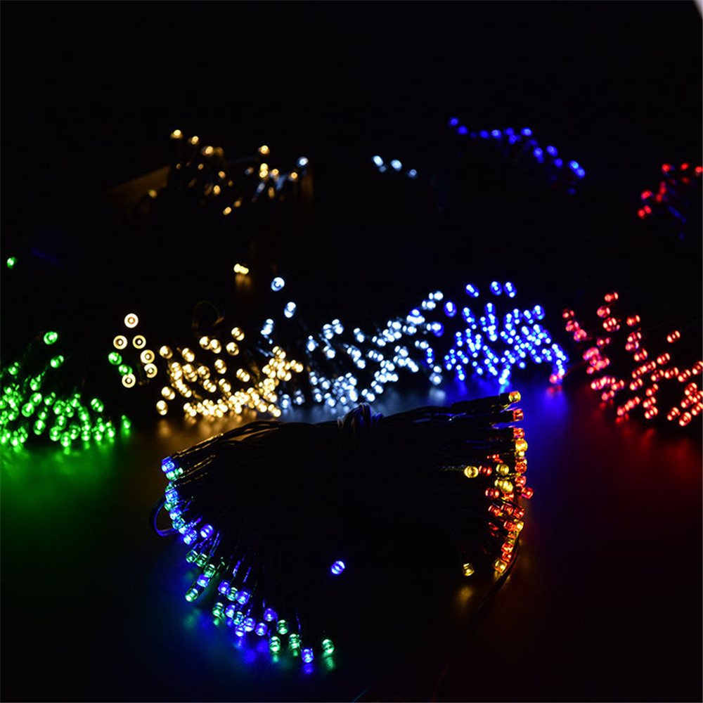Hot sale rope lights christmas gift solar led string lights for hot sale rope lights christmas gift solar led string lights for party festival outdoor indoor 100 leds gazebo yard patio lantern in lighting strings from aloadofball Image collections