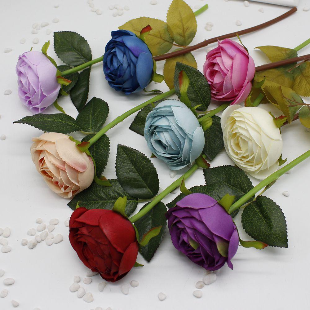 5 Pcs Flower Silk Wedding Bouquet Dahlias Roses Artificial
