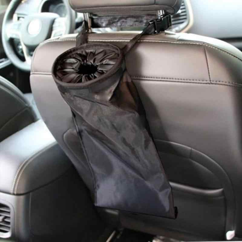 Interior Do Carro Caixa de Armazenamento Banco de Trás de Lixo de Lixo Bin Cesta de Suspensão Titular Lavável Portátil Confortável Auto Acessórios
