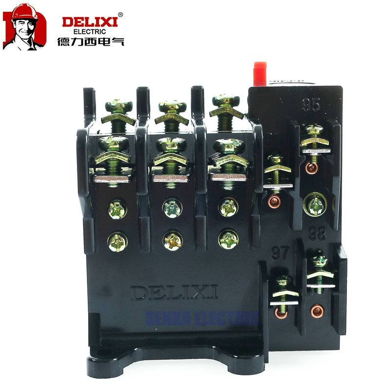 DELIXI JR36-20 Adjustable Thermal Overload Relay 1NO 1NC 1.6A/2.4A/3.5A/5A Motor Control Relay relay jrs1d 25 7 10a thermal overload relay delixi