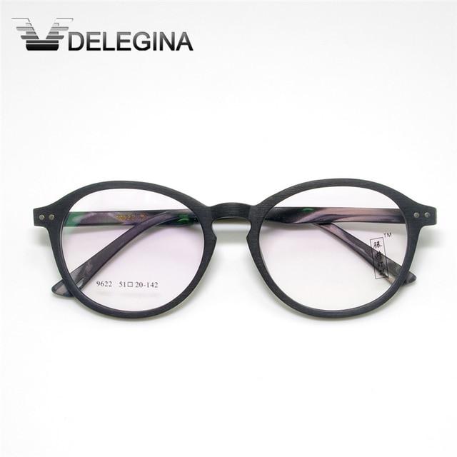 2016 Retro Eyeglasses frames For Prescription Eyewear Graining Wood johnny depp glasses armacao de oculos