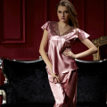 XIFENNI Brand Women Satin Silk Pajamas Summer Short-Sleeved Sleepwear Imitation Silk Pyjama Sets Sexy V-Neck Pijama 1353