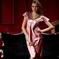 XIFENNI Marca Mujeres Satén de Seda de Los Pijamas de Verano de Manga Corta ropa de Dormir Conjuntos de Pijamas de Seda de Imitación Sexy Con Cuello En V Pijama 1353