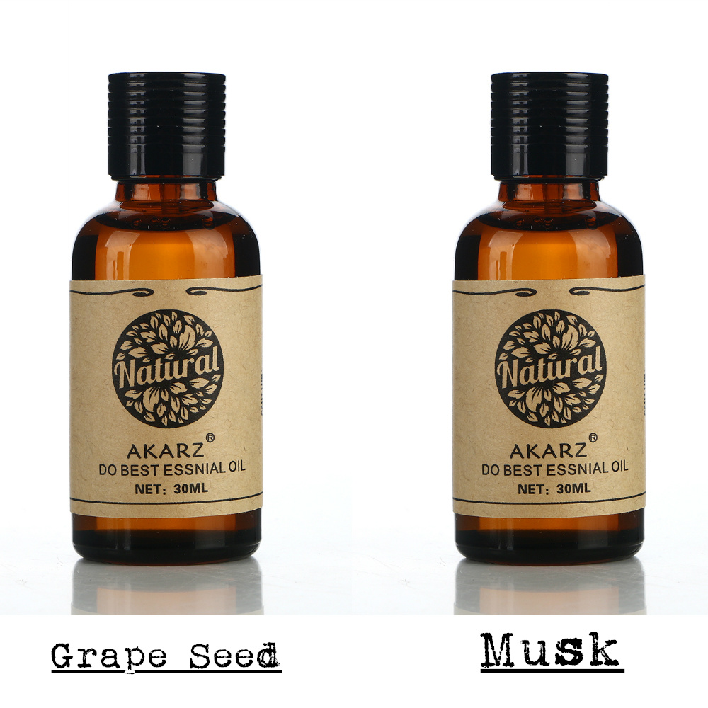 AKARZ Famous brand hair care set pure natural aromatherapy grape seed musk font b essential b