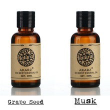 AKARZ Famous brand hair care set pure natural aromatherapy grape seed musk essential oil Repair skin care Massage Oil 30ml*2