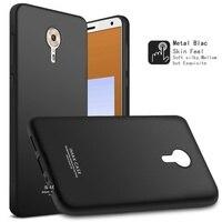 IMAK Cover for Lenovo ZUK Edge Shell Soft Shatter-proof TPU Phone Case + Screen Protector for Lenovo ZUK Edge Bag - Metal Black
