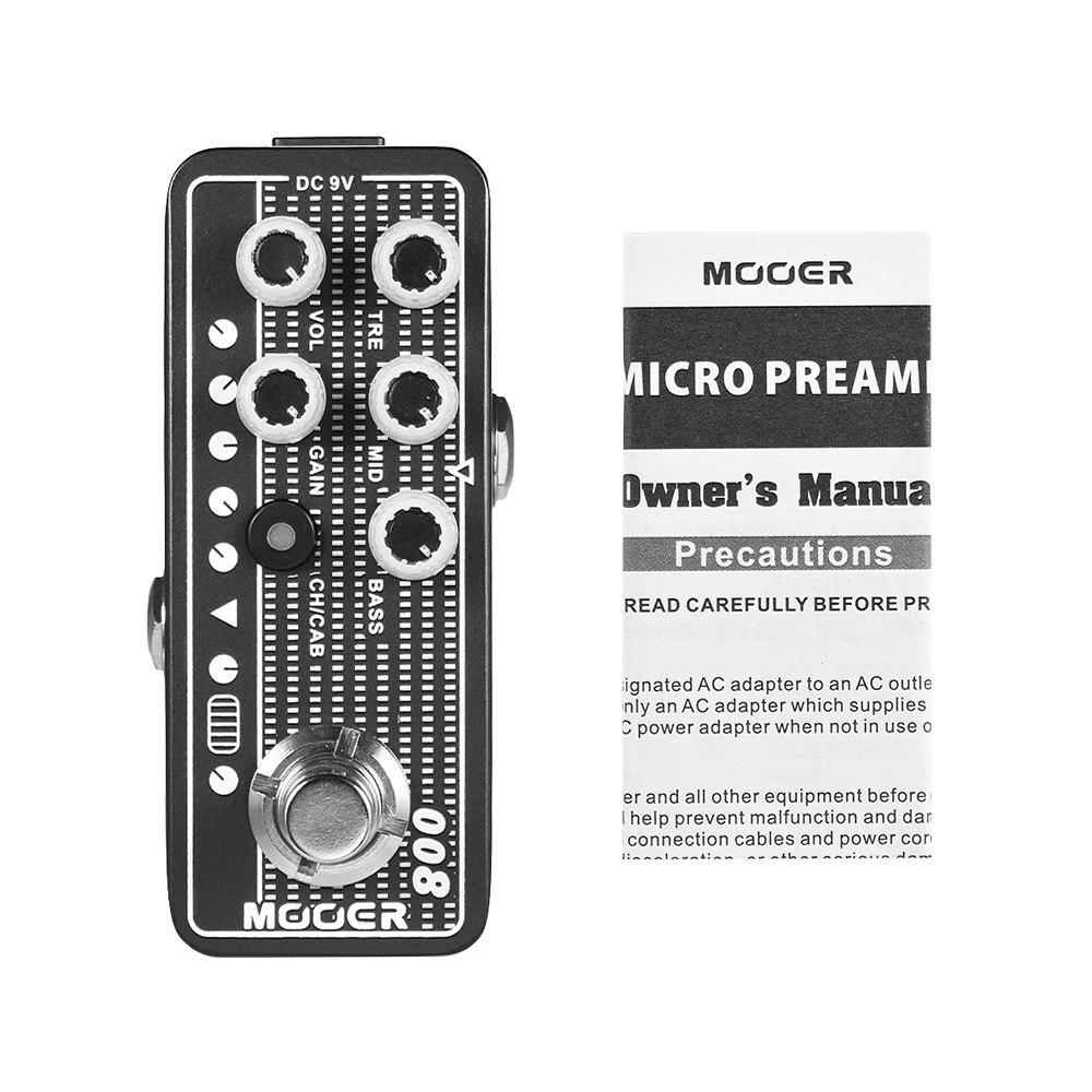 MOOER MICRO PREAMP Series 008 Cali MK 3 Californian Session Combo Digital Preamp Preamplifier Guitar Effect