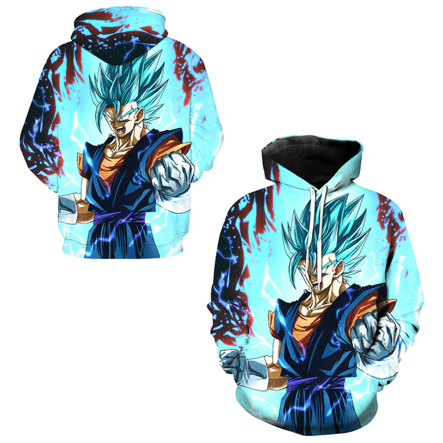 f8dd48976a1f Vegito Super Saiyan Blue Cosplay Sportsuit Hoody Skateboarding Hoodies  Dragon Ball Z Goku Sweatshirts Male Hooded Tops Pullovers