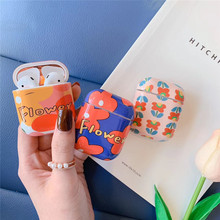 Cute flower plant For airpods case painted hard shell wireless Bluetooth headset set 1/2 charging box