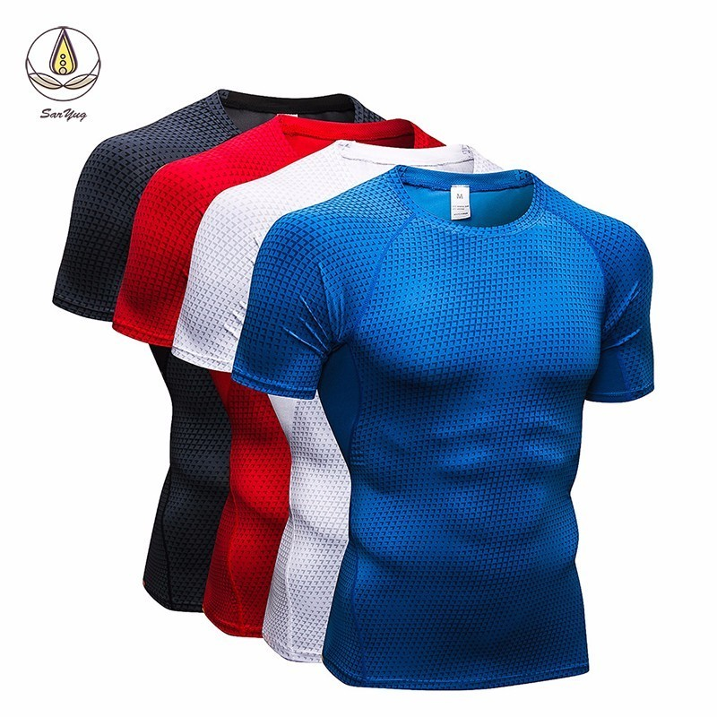 New Men 39 s T Shirt For Fitness Quick Dry Running Shirt Men Gym Clothing Sweat Sport Shirt Men Soccer Jersey Gym Demix Sportswear in Running T Shirts from Sports amp Entertainment