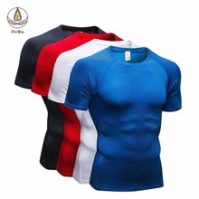 New Mens T Shirt For Fitness Quick Dry Running Men Gym Clothing Sweat Sport Soccer Jersey Demix Sportswear