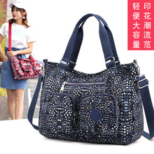 New Japanese and Korean womens handbags washed nylon casual fashion diagonal shoulder bag travel