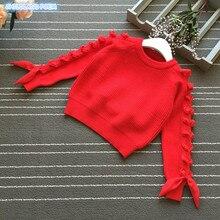 Sweter dziewczęcy jesienno zimowa odzież dziecięca dziewczęca wełniana bawełna małe dziewczynki sweter dziecięcy odzież z dzianiny sweter dla dziewczynek
