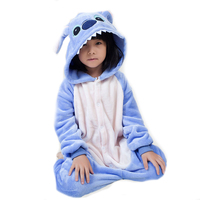 Kawaii anime kinder onesie pyjamas cosplay halloween rosa blau lilo und stitch kostüme für kinder mädchen jungen party dress