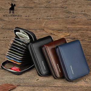 92532eddc6f WILLIAMPOLO Genuine Leather Men Card Holder Case Wallets