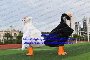 Белый, Черный лебедь Cygnus гусиные талисман костюм для взрослых карикатура амбулаторная прогулки корпоративный имидж фильм zx770