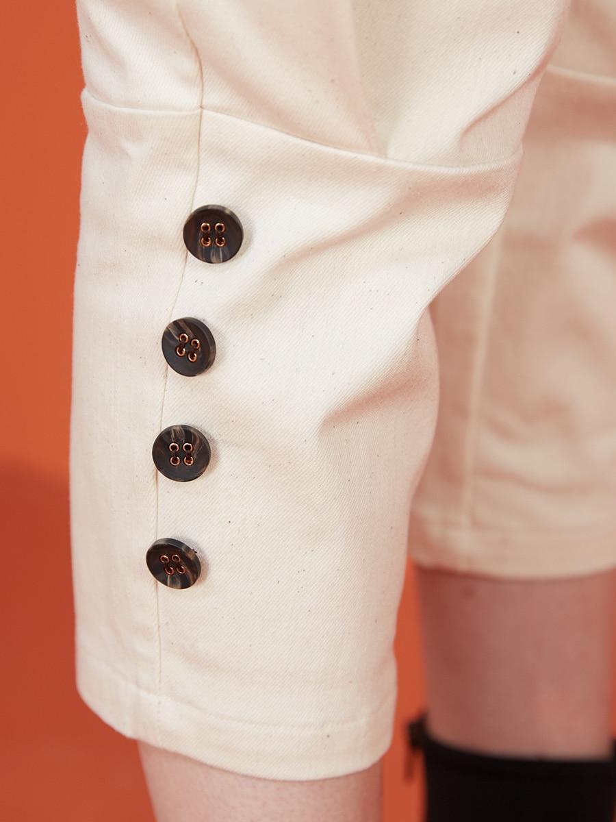 LYNETTE 'S CHINOISERIE di Autunno della Molla delle Donne di Disegno Originale Reale Dell'annata di Alta Della Vita Dei Pantaloni Della Matita - 4