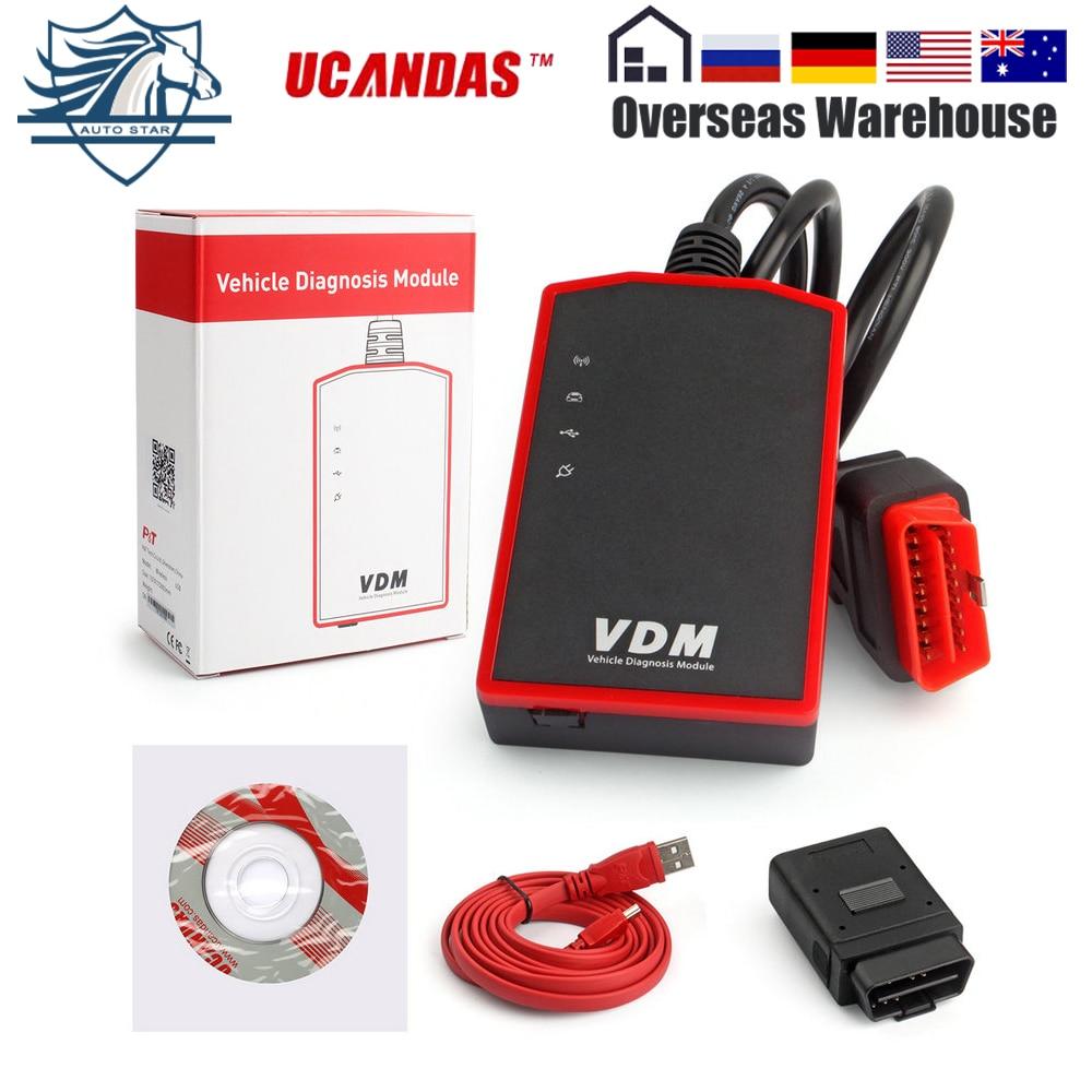 UCANDAS VDM V3.9 Wifi полная система диагностический сканер Инструменты для автомобиля Поддержка Windows Android авто детектор бесплатное обновление навс...