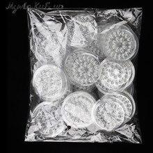 Tampon de joint de colle pour Extension de cils, 100 faux cils transparents, colle en plastique, palette de pâte, outils pour cils, porte colle pièces