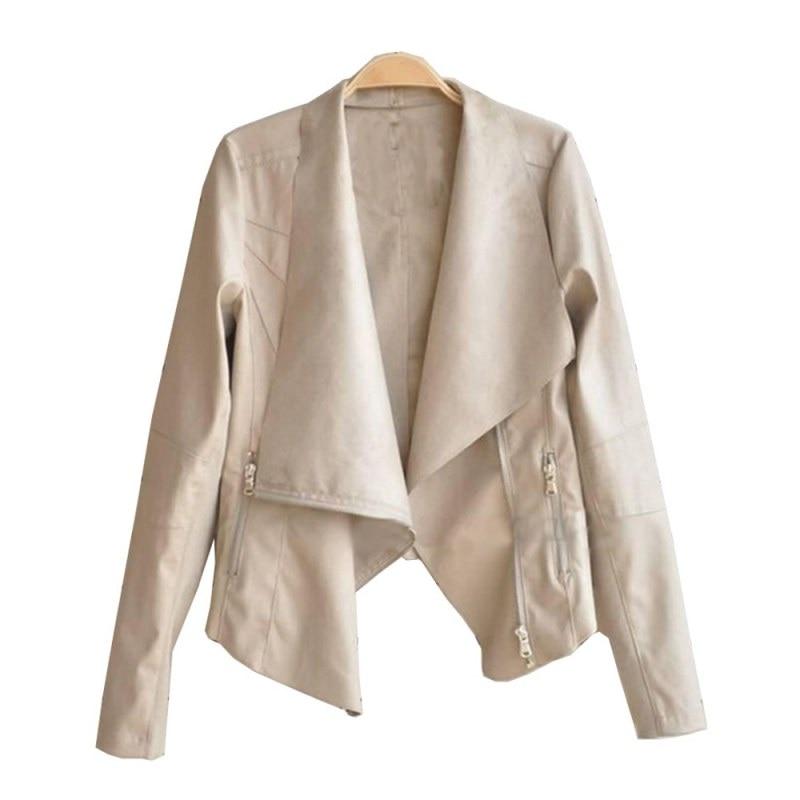 100% QualitäT Frauen Schlank Biker Moto Bomber Pu Zipper Punk Mantel Mode Frauen Taschen Jacken
