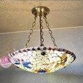 Свет Европейский стиль люстры мозаика исследование висячая люстра спальня гостиная лампа DF131