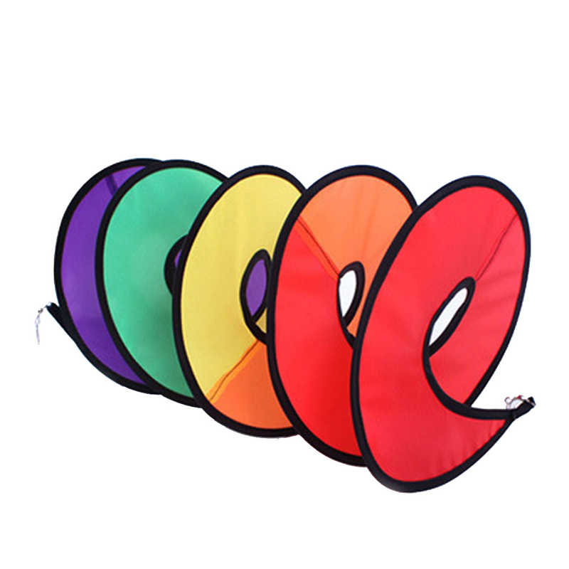 1Pc Opvouwbare Rainbow Spiral Windmolen Wind Spinner Home Garden Decor Kids Speelgoed