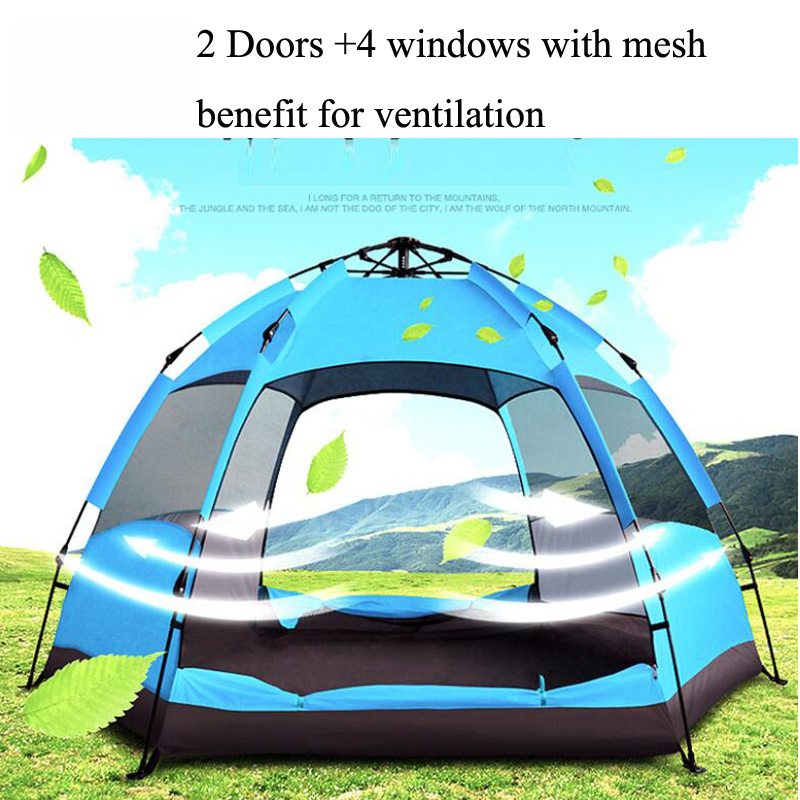 Ultraviolet-proof Tents Outdoor Camping Outdoor Sunscreen Beach Tent Benefit For Ventilation  Big Space Family Camping Tent  2