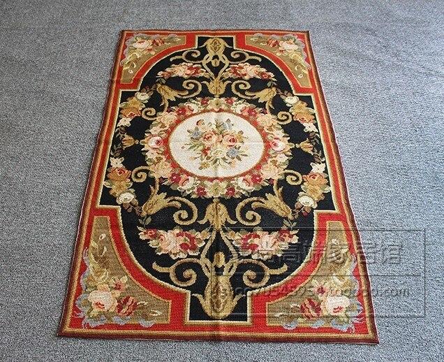 Court main broderie laine tapis Pure laine manuel croix pleine broderie broderie tapis fenêtre couverture tapisserie couverture