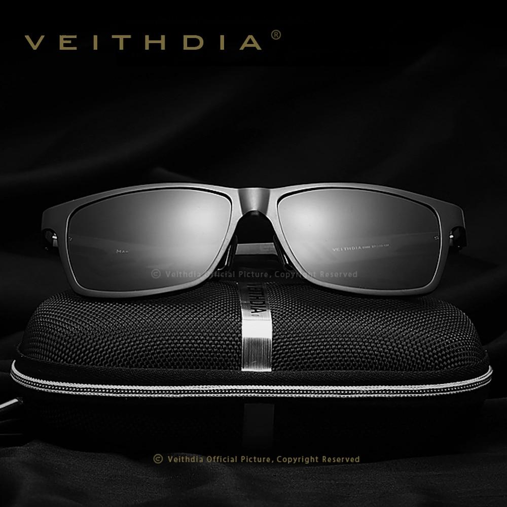 e16654d7f11e96 VEITHDIA Unisex Aluminium Gepolariseerde Lens Zonnebril Mannen Spiegel  Rijden Zonnebril Bril Vierkante Brillen Accessoires shades 6560