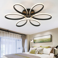 NEO Gleam Dimmable Modern Led Chandelier Lights For Living Room Bedroom Kids Room Surface Mounted Led