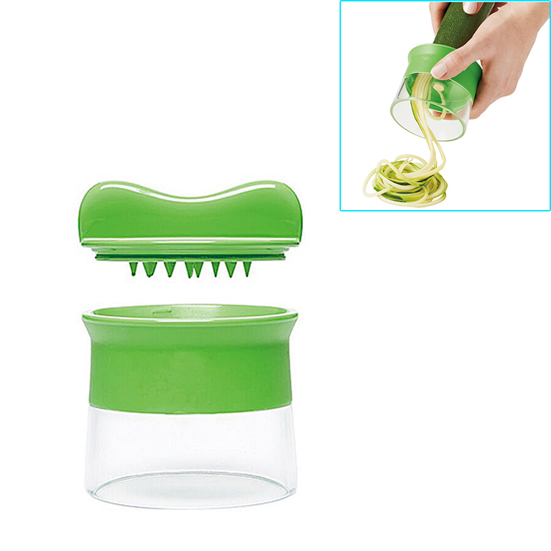 Multifunction Shred Vegetables Slicer Rotary Spiral Funnel-shape Grater Knives K