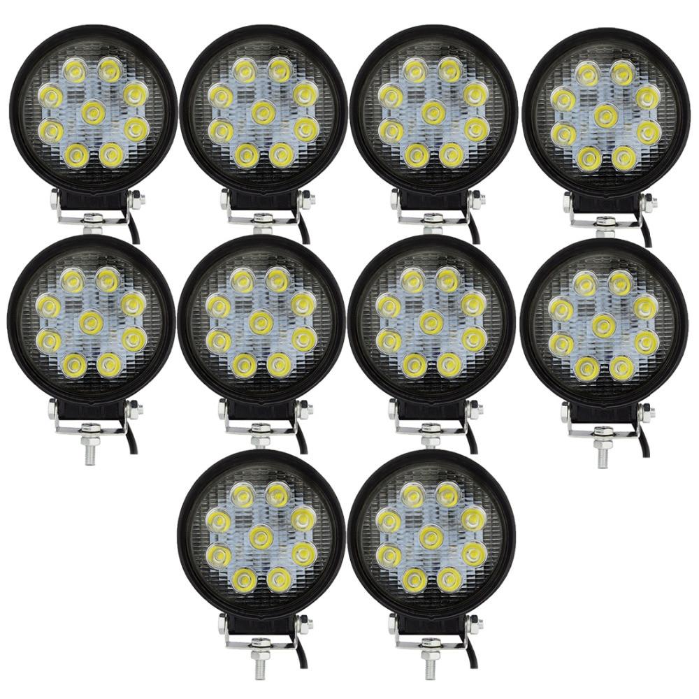 10db 27W led munkalámpa 12V LED Traktor munkafényszórók - Autó világítás
