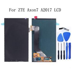 Image 1 - AMOLED per zte Axon 7 LCD A CRISTALLI LIQUIDI di tocco digitale dello schermo di ricambio A2017 A2017U A2017G Asembly zte A2017 Axon7LCD + Trasporto trasporto libero