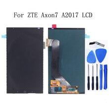 AMOLED ل zte Axon 7 LCD LCD محول الأرقام بشاشة تعمل بلمس استبدال A2017 A2017U A2017G asemble zte A2017 Axon7LCD + شحن مجاني