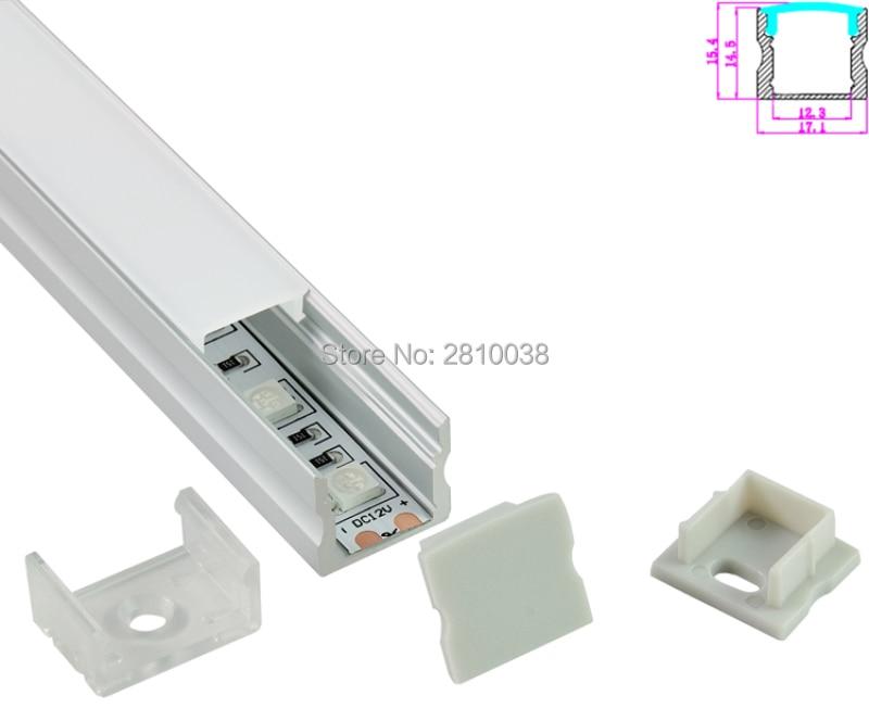 10 Sets / partij U-vorm geanodiseerd zilver LED aluminium profiel - LED-Verlichting
