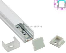 10 Sets/Lot Square Anodized Silver LED aluminum profile AL6063 Aluminium led Channel profil for recessed wall lights